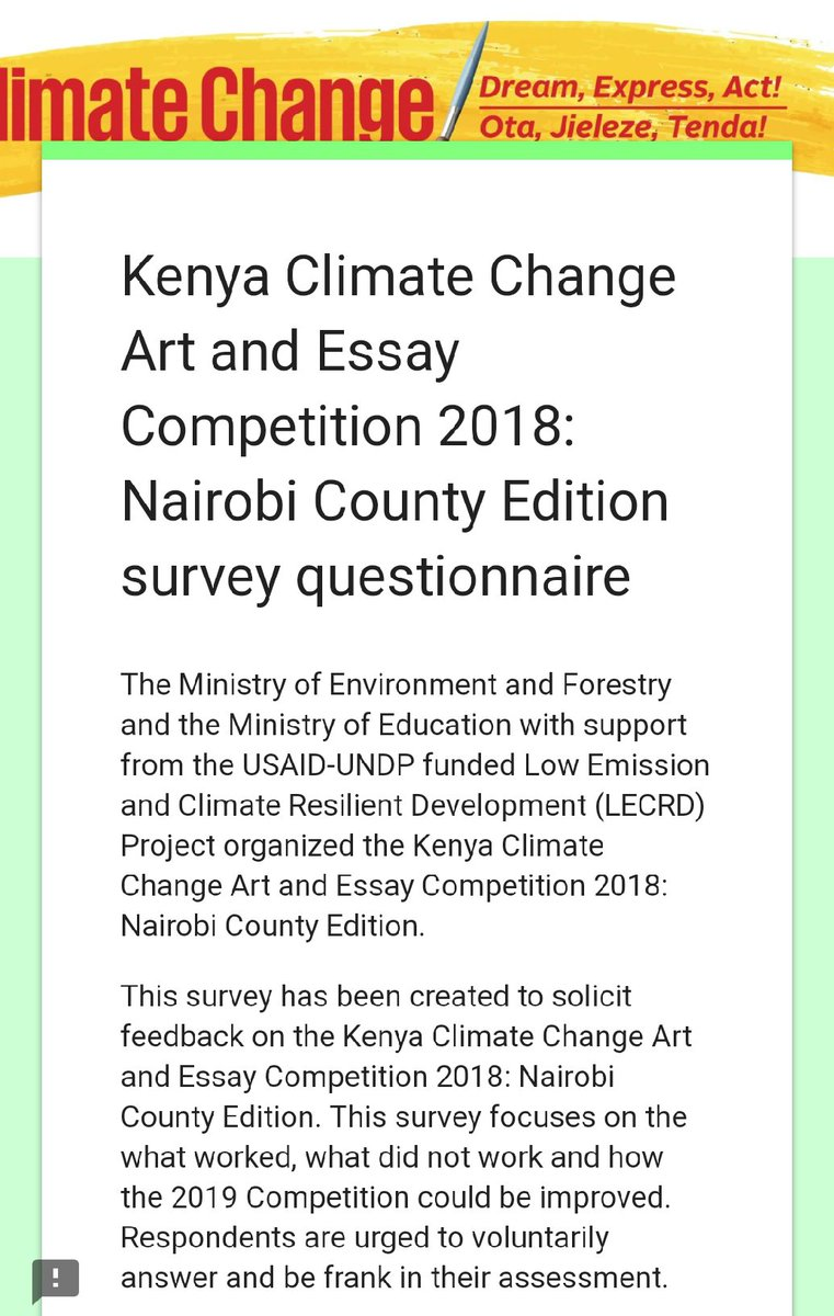 Essay Writing Format For High School Students Kenya Climate Change Art And Essay Competition Ccartcompe Essay Science And Religion also Term Paper Essay Kenya Climate Change Art And Essay Competition Ccartcompe  Twitter Critical Essay Thesis Statement
