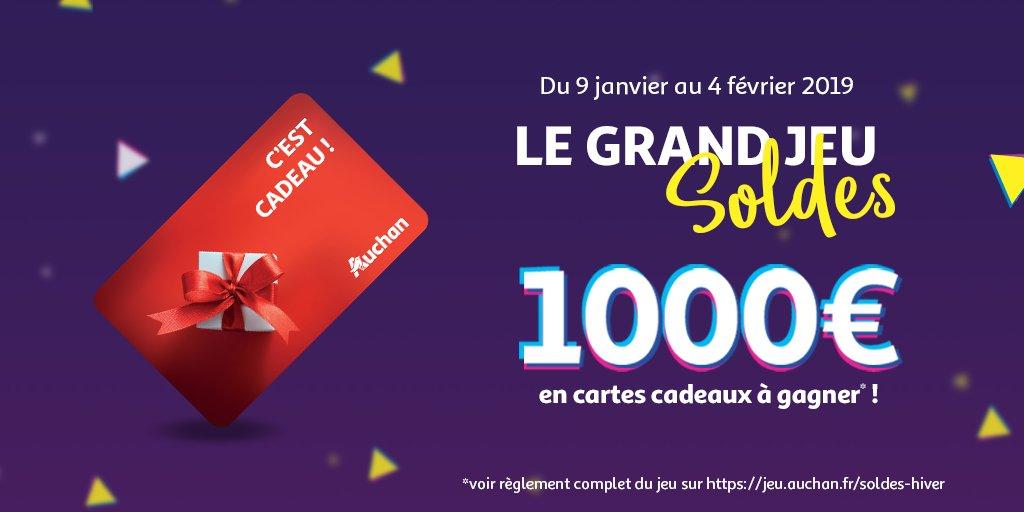Carte Cadeau Auchan Voir Solde.Auchan On Twitter Jeuconcours Jouez A Notre Grand Jeu