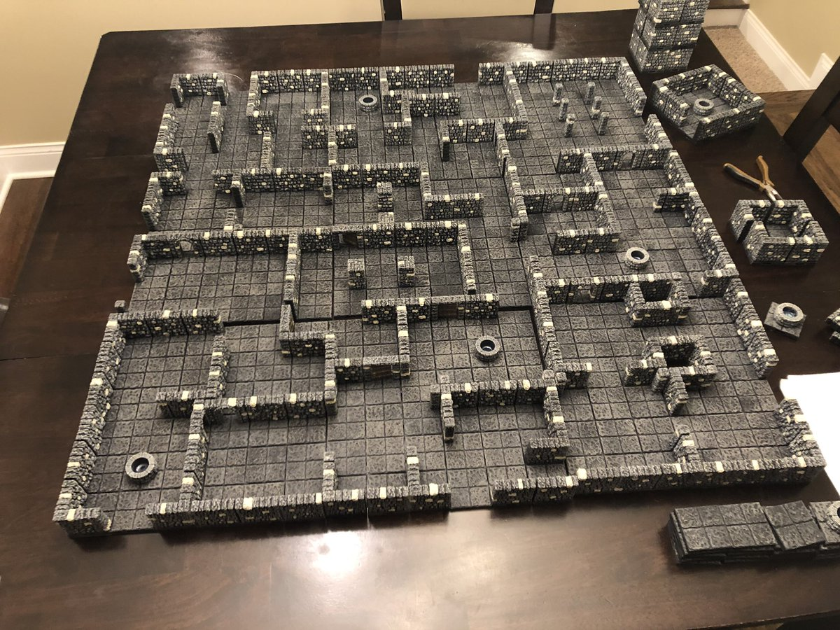 graphic about 3d Printable Dungeon Tiles named intothebreedingpits hashtag upon Twitter
