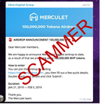 Image for the Tweet beginning: IMPORTANT! The official Merculet Telegram