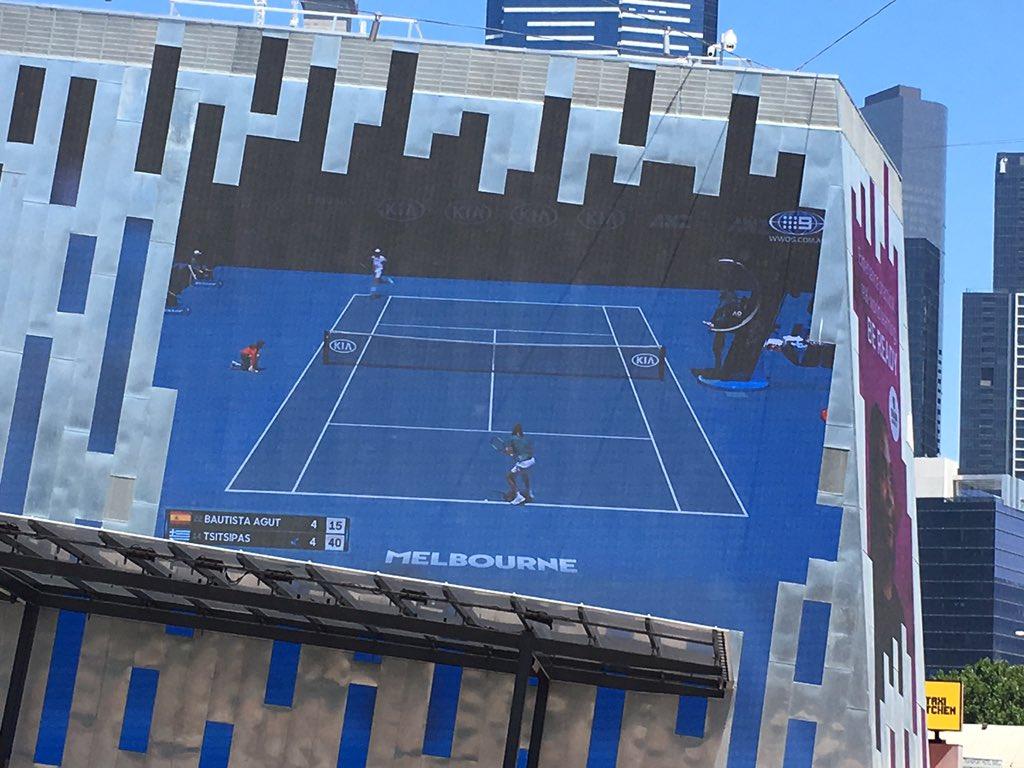 #AusOpen #Melbourne #fedsquare #dayoff https://t.co/1gz6a2SCEM