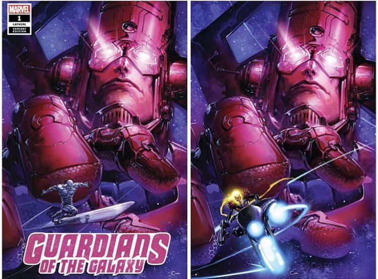 Thanos 1 Clayton Crain Virgin Variant Set