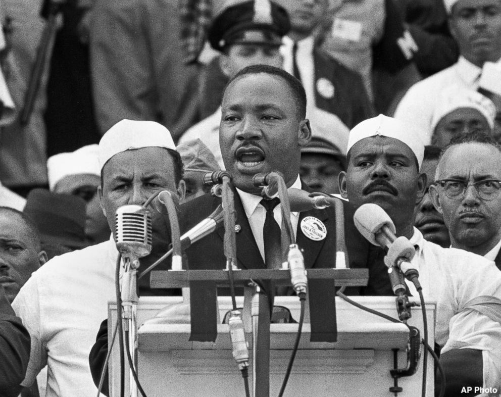 """Martin Luther King, Jr.: """"Everybody can be great...because anybody can serve. You don't have to have a college degree to serve. You don't have to make your subject and verb agree to serve. You only need a heart."""" https://abcn.ws/2Dpdjot"""