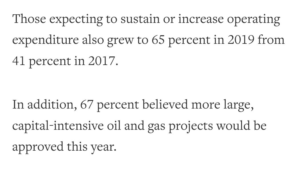 #Oil and #gas executives expect to boost spending this year: survey https://t.co/fbWkA4y2gI #oott https://t.co/sCylw6Txke