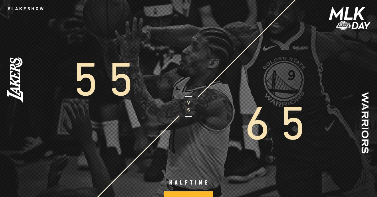 Halftime here at STAPLES.