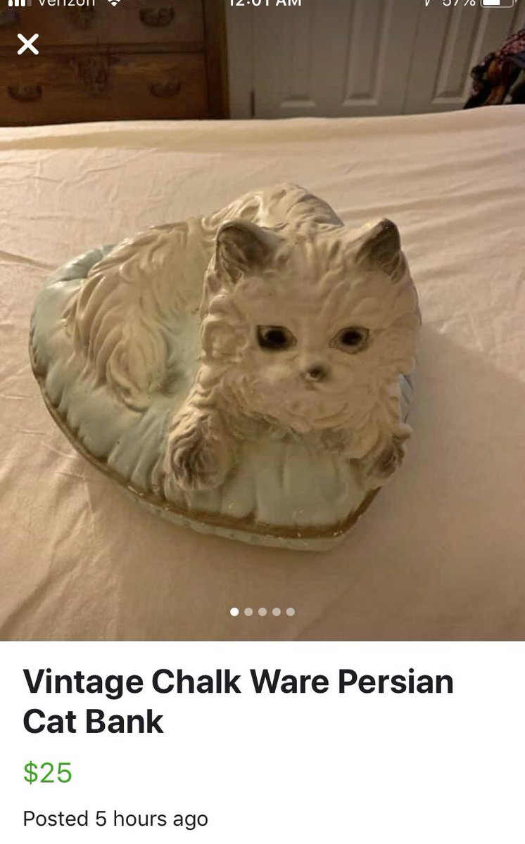 This is my most horrifying encounter on Facebook marketplace. I give to you the vintage Persian #theeyes #demon