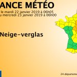Image for the Tweet beginning: 🔶 24 dpts en #vigilanceOrange  Restez