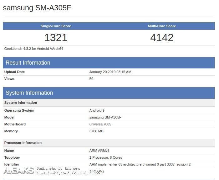 Samsung Galaxy A30 تظهر على صفحة دعم