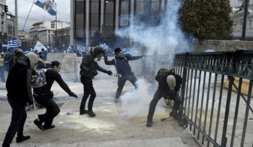 """""""Our Name Is Our Soul"""" – Greek Protesters Hurl Molotov Cocktails At Police Over MacedoniaName https://t.co/pQsXHbNNhA"""