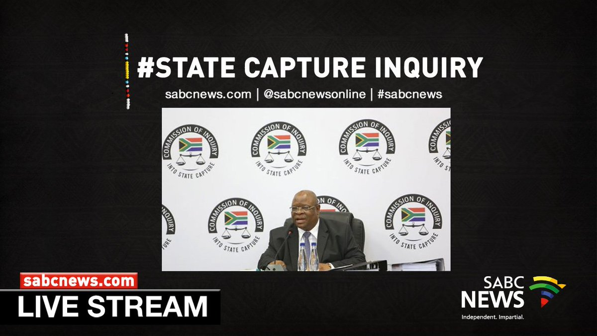 [LIVE STREAM] #StateCaptureInquiry - Tuesday, 22 January 2019 | WATCH:  https://t.co/F1p0Hp0T6n #sabcnews