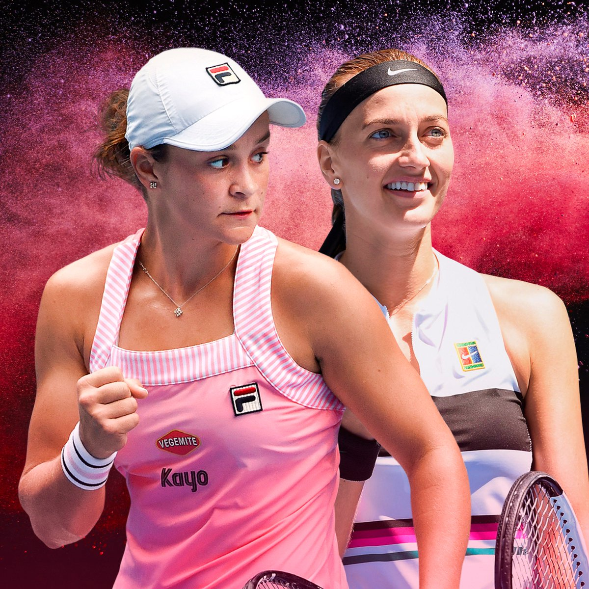 The countdown is almost over.  #Barty 🇦🇺 vs #Kvitova 🇨🇿  Who will prevail? #AusOpen
