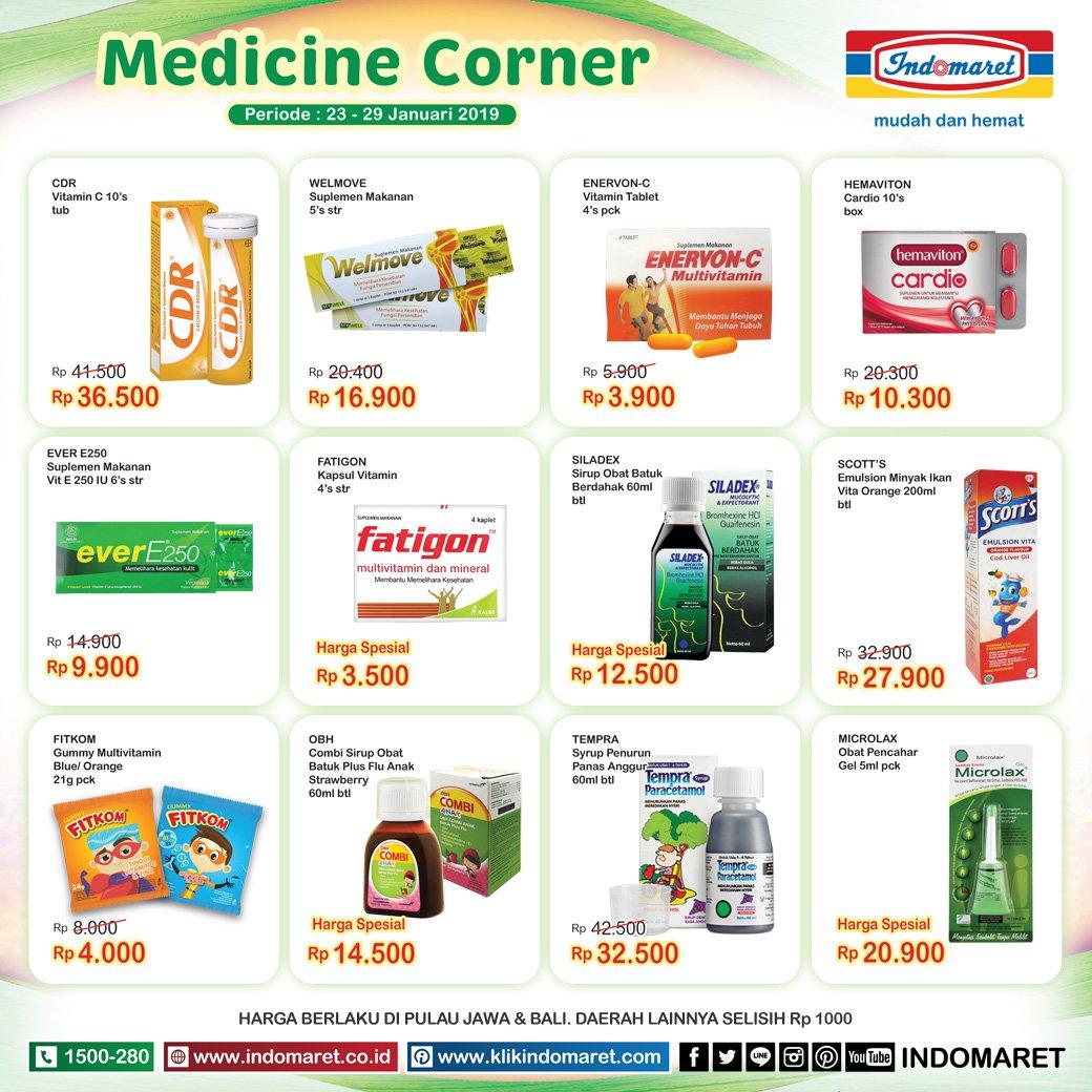 Indomaret En Twitter Untuk Produk Kebutuhan Medicine Corner