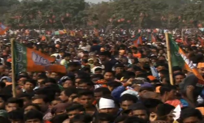 BJP National President Shri @AmitShah will shortly address a public meeting in Malda, West Bengal. Watch at https://t.co/RYutUexsCz  #AmitShahInMalda
