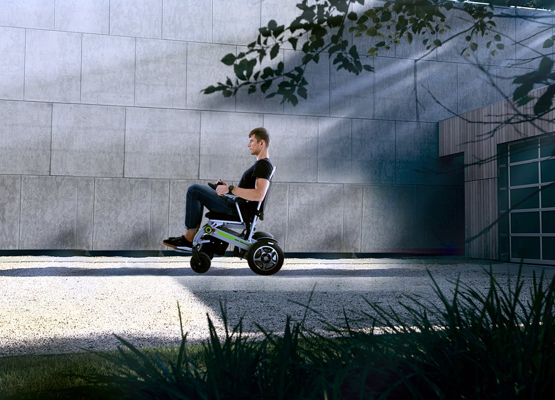 Airwheel H3S power and manual #wheelchair is advocating portability and convenience.  #wheels #powerchair #chair #comfort #rider #week #free #electricchair #tech #road #way #scooter #walkers #electric #rollators #mobility #door #helper #outdoor #outside #travelout #comfort