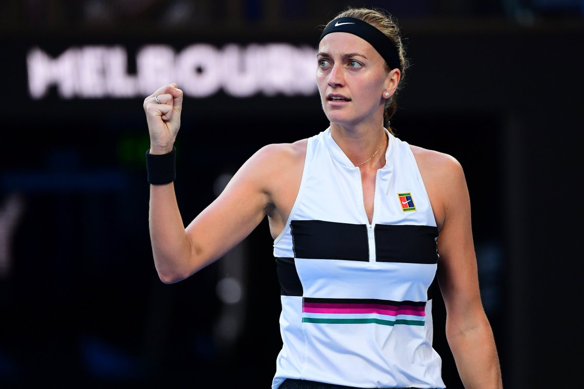 Crunch time.  #Kvitova breaks #Barty for a 6-1 5-4 lead and will serve for a spot in the #AusOpen semis.