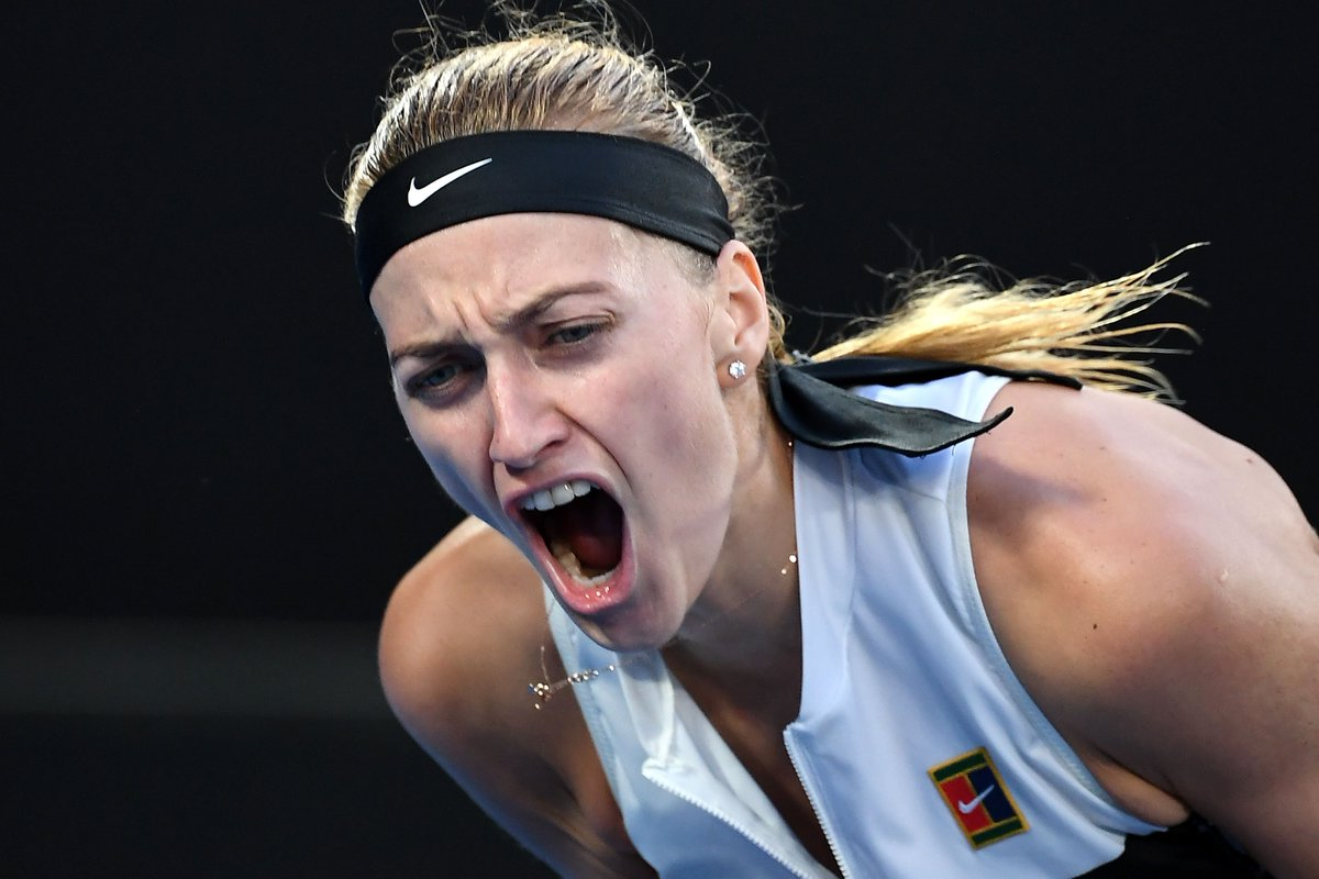 Seven years later...@Petra_Kvitova is back in the Final 4!  She delivers a dominating performance to def. Ash #Barty 6-1 6-4.  #GameSetMatch #AusOpen