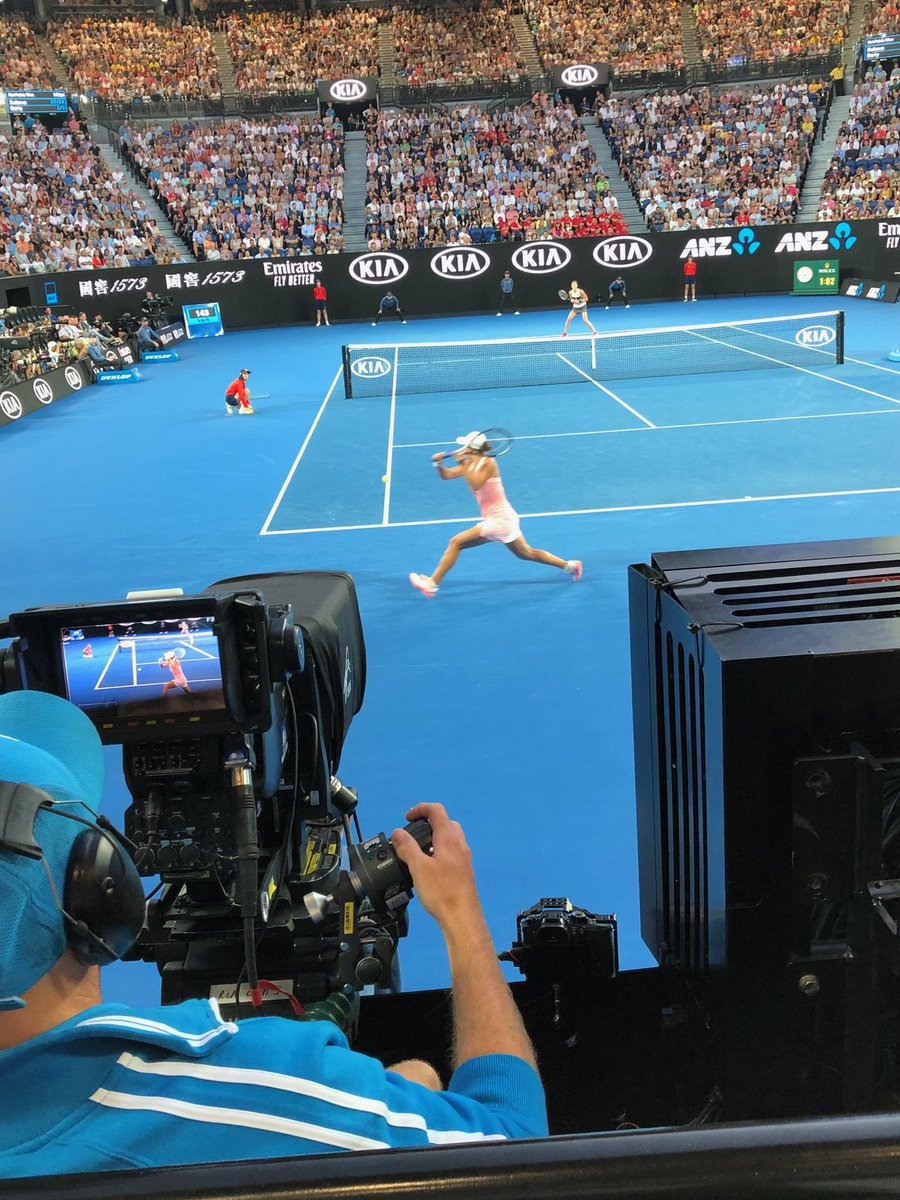 Not a bad seat tonight at the #AusOpen. Too bad it looks like the #BartyParty is going to have an early night