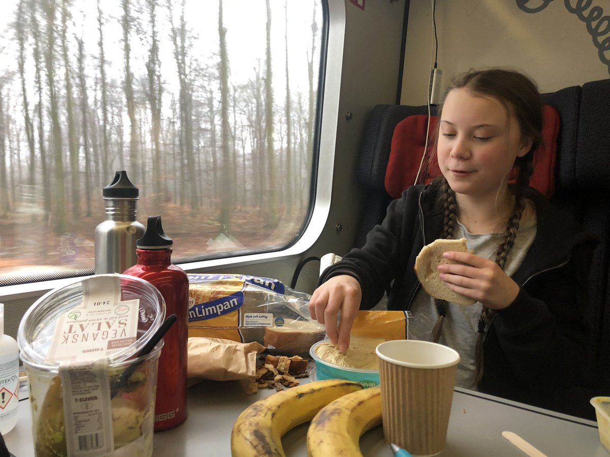 """Greta Thunberg Update: Greta Thunberg On Twitter: """"Lunch In Denmark.…"""
