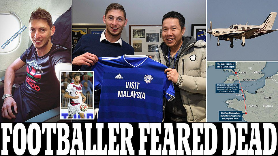 Cardiff City's new £15million striker Emiliano Sala feared dead after plane he was on disappears over the Channel Islands  https://t.co/KqqNWA45TY