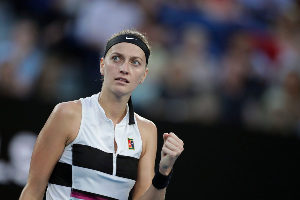 Petra Kvitova shortens from $5 to $3 second favourite for the 2019 #AusOpen women's title after ending the #BartyParty with a 6-1 6-4 quarter-final victory over Ash Barty.   Market 👉 https://t.co/feEl00T24Z
