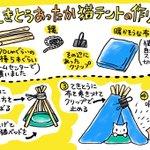 簡単に作れるお手製の猫テントがかわいい~!