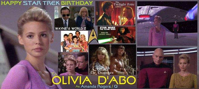 Happy birthday Olivia d Abo, born January 22,1969.