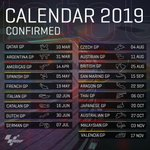 Image for the Tweet beginning: 2019 #MotoGP Calendar confirmed ✅  Who's
