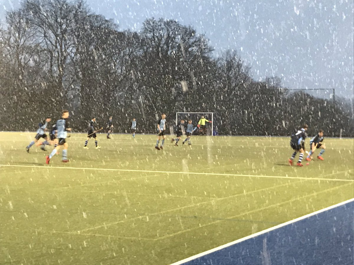 Interesting conditions for the 1st XI match today...2nd round of the EH Tier 1 Cup v @Wellyhockey