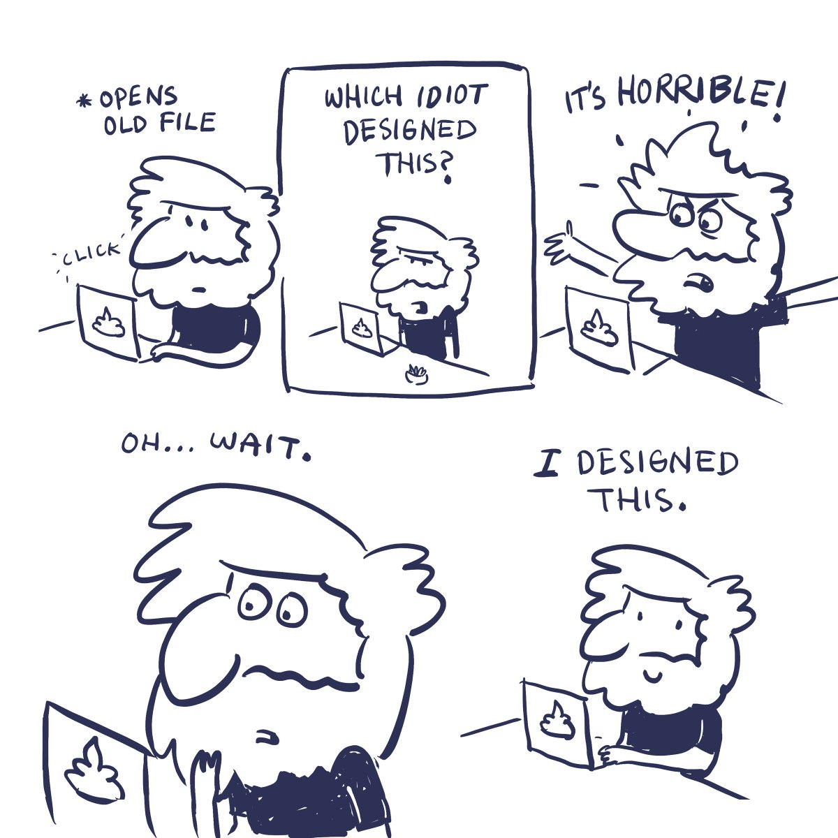 comic about opening old design files
