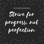 Image for the Tweet beginning: Strive for progress not perfection