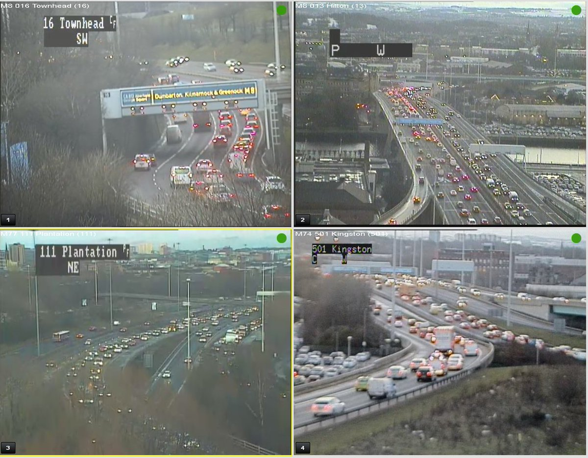 test Twitter Media - #Glasgow Traffic at 16:30 ⌚️  Busy and slow on the #M8 W/B J16 Craighall to J22 Kinning Park and E/B over the Kingston Bridge to J17 Great Western Road   #M8 W/B secondary carriageway Plantation merge to #M77 S/B J1 Dumbreck #M74 N/B J1A Polmadie   @ScotTranserv https://t.co/YJ4s7TekCr