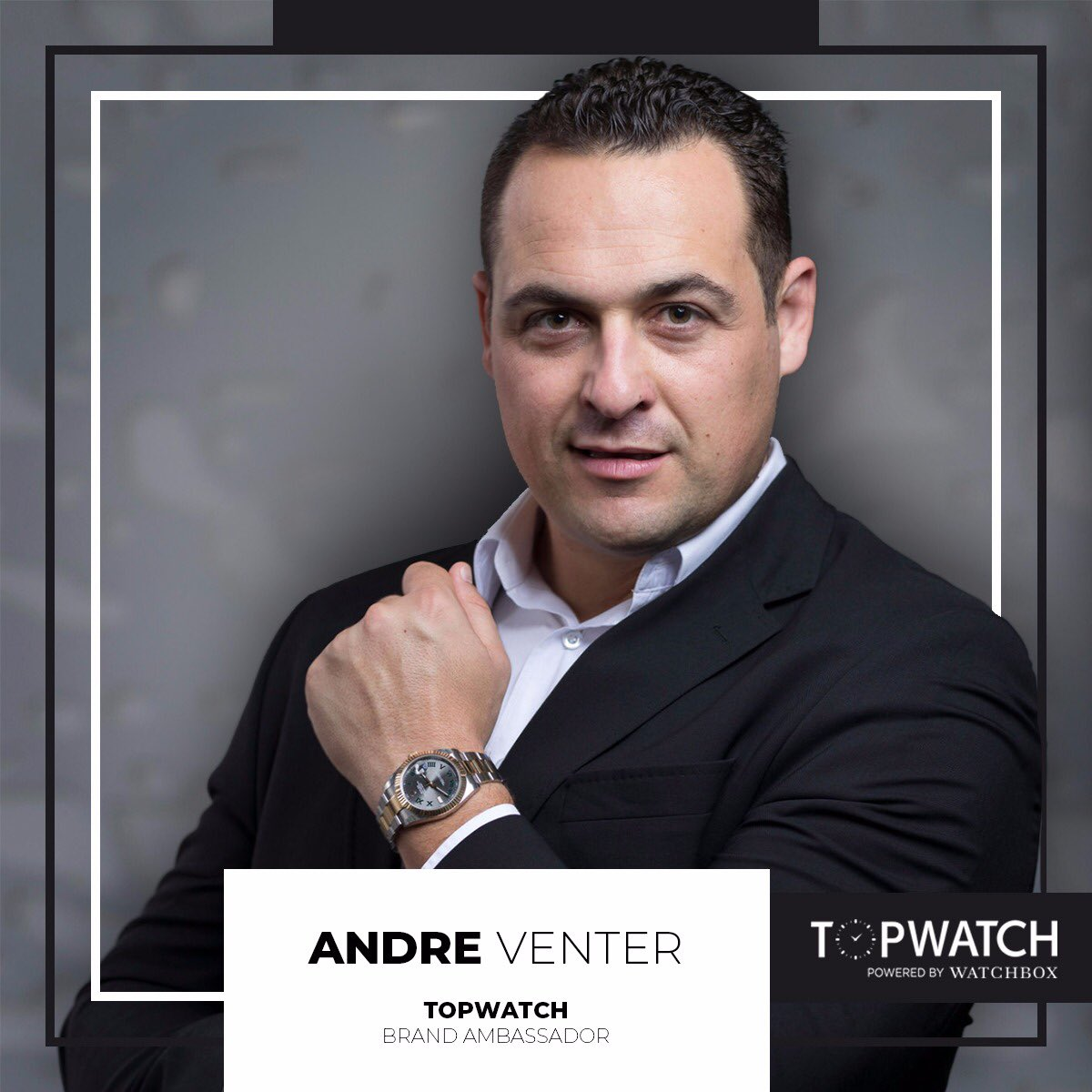 Guess who joined the #TopWatchSA Team! Welcome onboard Andre Venter! #TopWatchAmbassador