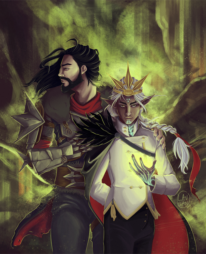 saut dans le vide, my lover. fenris as inquisitor gives me life these days.   #dragonage #fenris #fenhawke #hawke