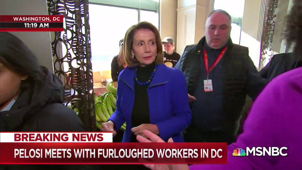WATCH: Speaker Pelosi and Chef José Andrés tour a kitchen that is helping feed federal workers during the month-long government shutdown.