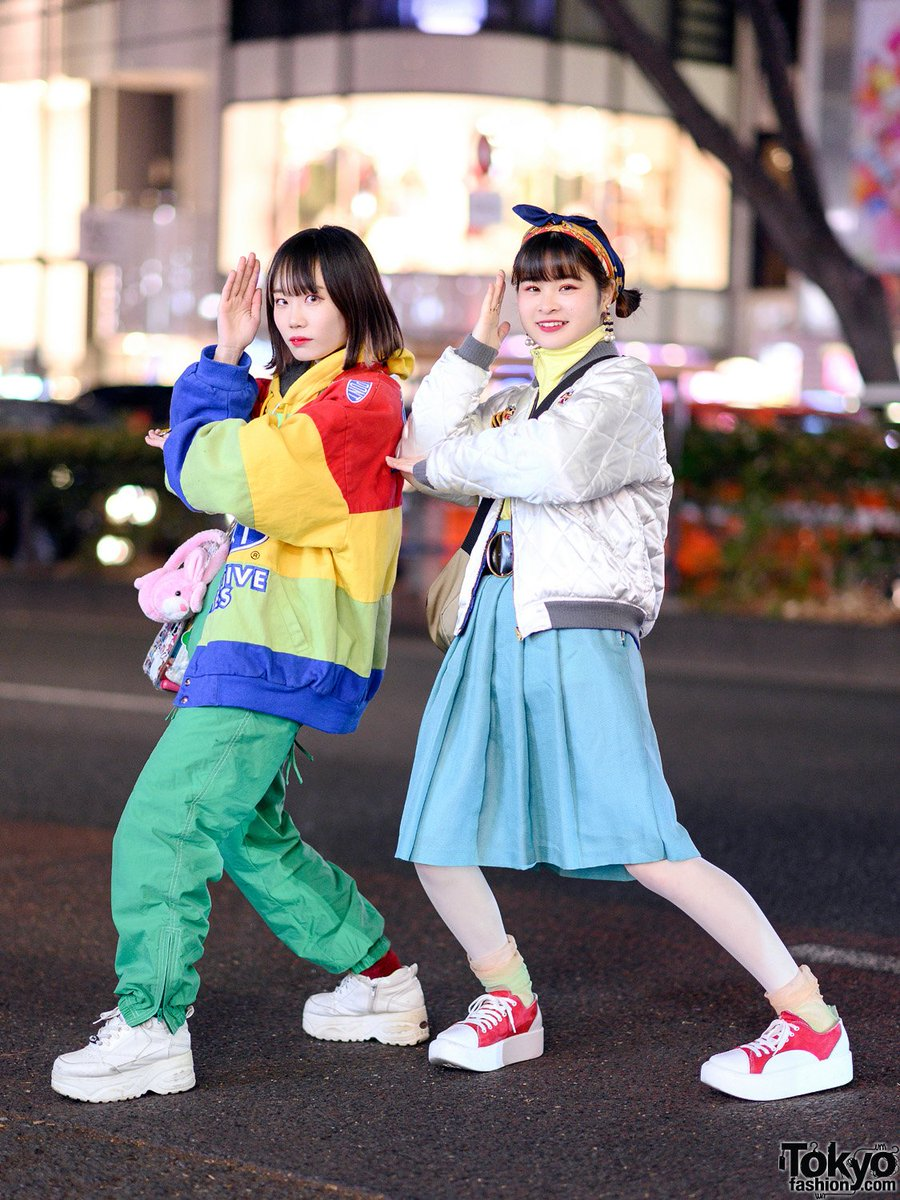 b8817b5622b 18-year-old Japanese students Sachan and Okusako on the street in Harajuku  wearing