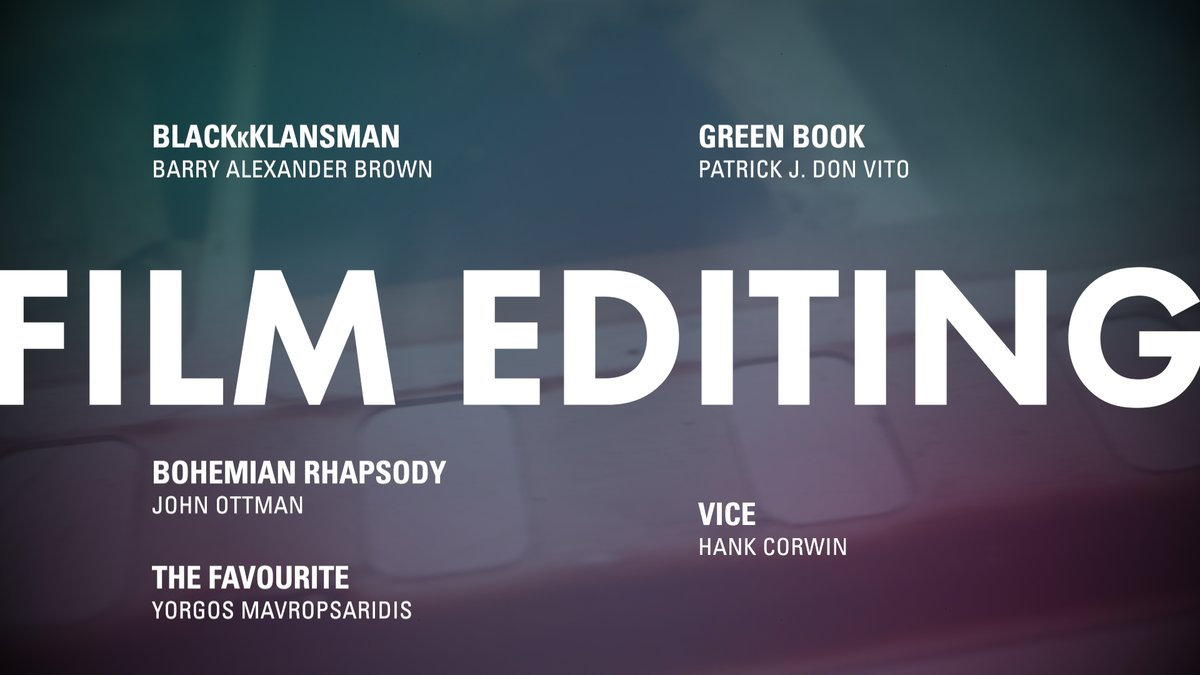 LOOK: Film Editing nominees #OscarNoms