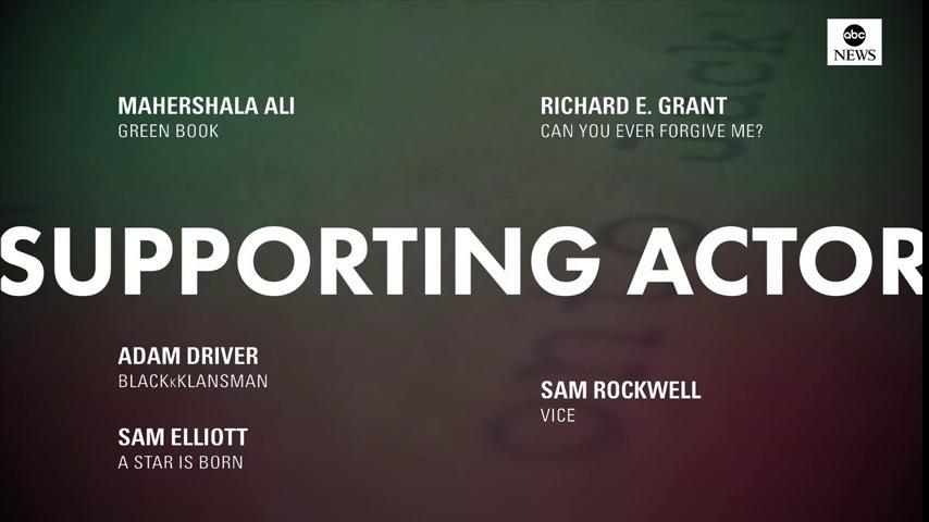 JUST IN: 2019 #OscarNoms for Best Supporting Actor: https://t.co/byLa3Eq6pN  Mahershala Ali, 'Green Book' Adam Driver, 'BlacKkKlansman' Sam Elliott, 'A Star Is Born' Richard E. Grant, 'Can You Ever Forgive Me?' Sam Rockwell, 'Vice'