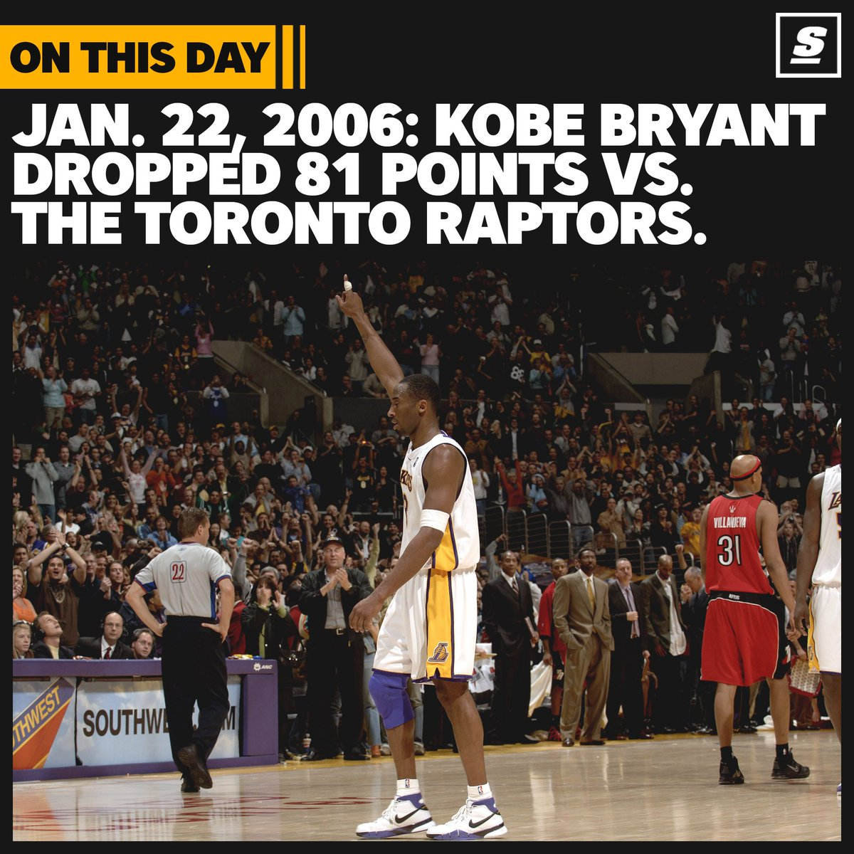 On this date in 2006...  Kobe Bryant torched the Raptors for 81 points. 🐍🔥