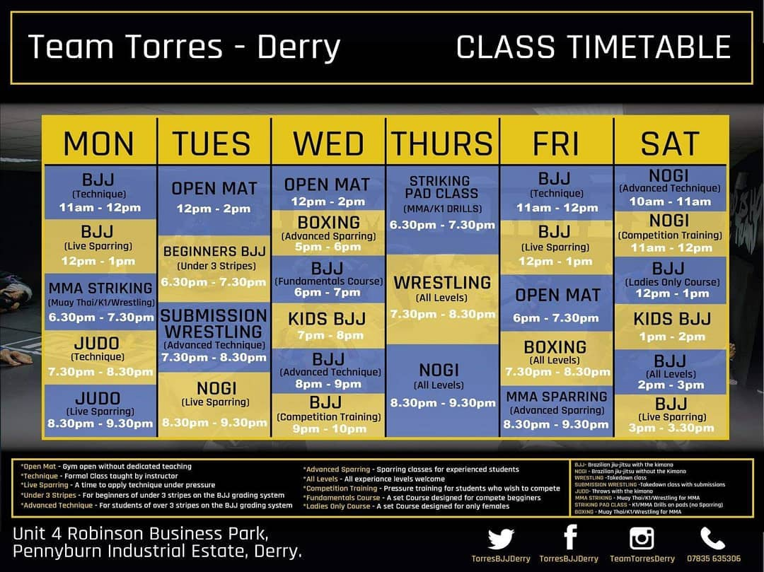 Our Beginners Class Kicks Off 630 And Submission Wrestling Begins At 730We Have Something For Everyone So Why Not Call In
