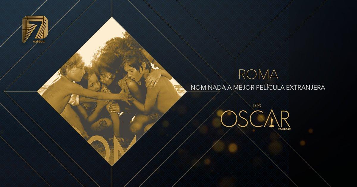 ¡Viva México! 🇲🇽 ¡#Roma, nominada a mejor película extranjera!  #OscarNoms  #ElOscarEsPara