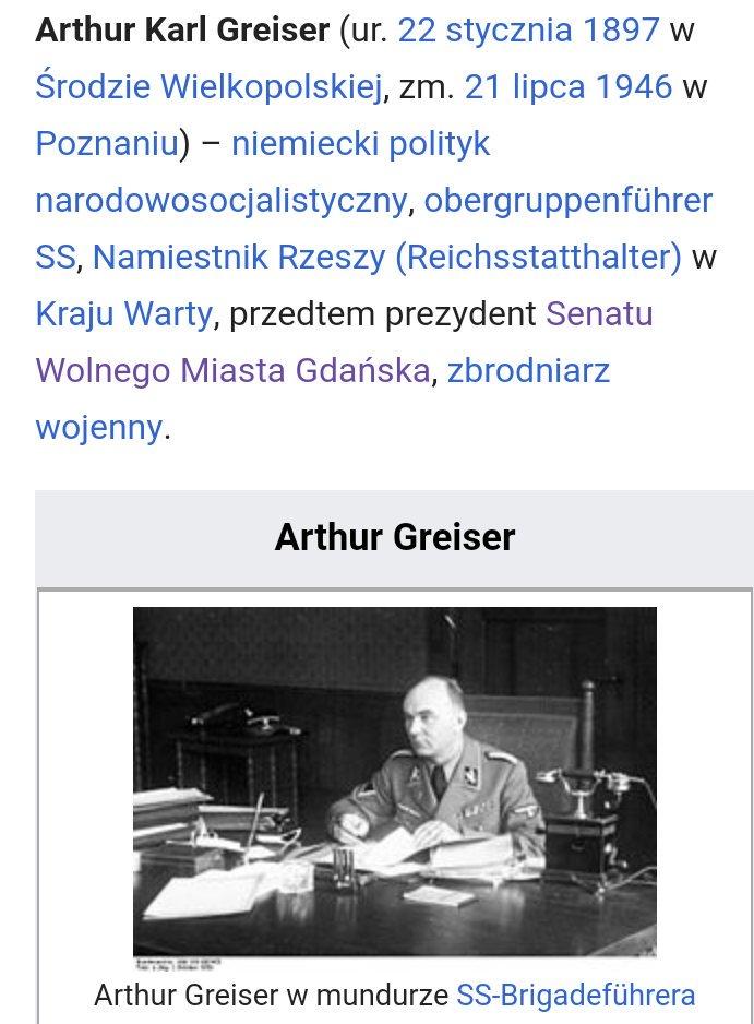 Ostatni prezydent Senatu Wolnego Miasta Gdańska, sprawujący swój urząd od 1934 roku: https://pl.m.wikipedia.org/wiki/Arthur_Greiser…