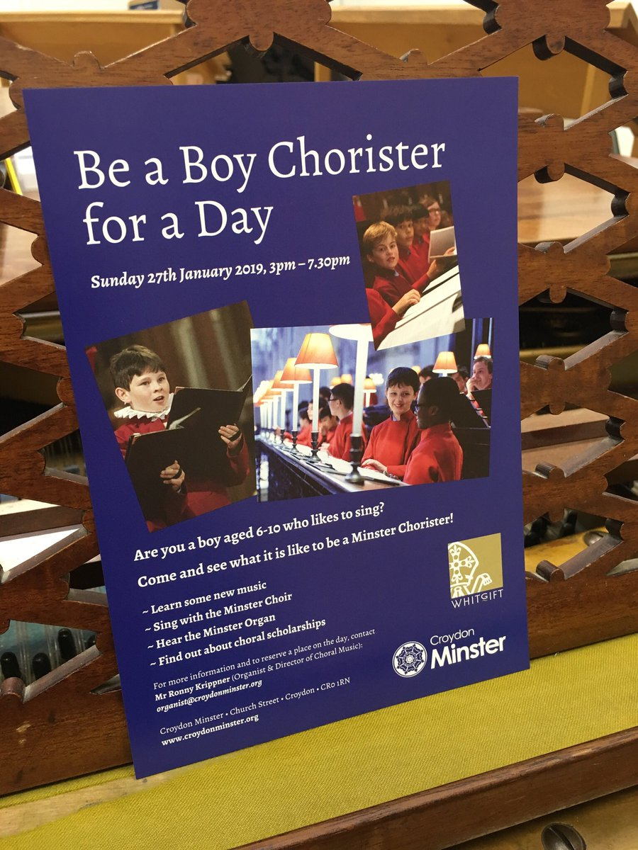 Do you know a boy who loves singing? Looking forward to many prospective #choristers this Sunday!