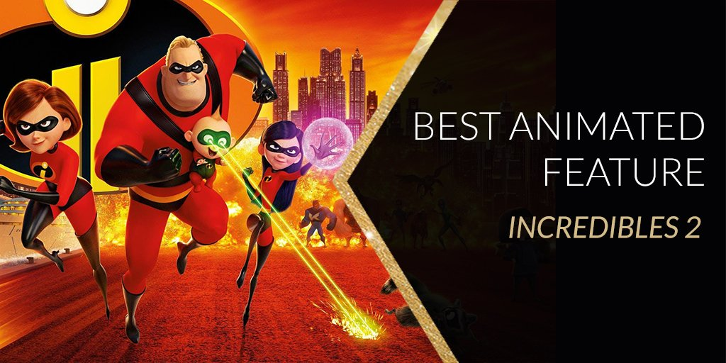 #Oscars: Animated Feature Film — Incredibles 2 Isle of Dogs Mirai Ralph Breaks the Internet Spider-Man: Into the Spider-Verse