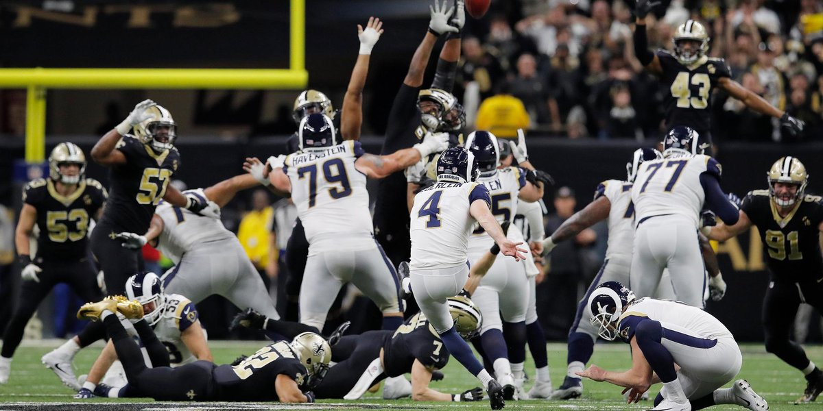 The longest game-winning kick in #NFLPlayoffs history.  And Greg Zuerlein nailed it: https://t.co/BNqk0GWx03