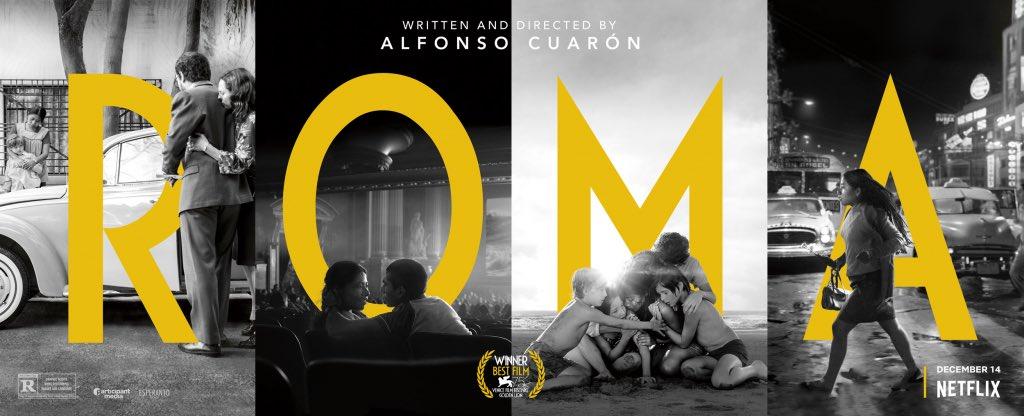¡La película mexicana ROMA de @alfonsocuaron, arrasa con 10 nominaciones en los premios Oscar!  - Película  - Película Extranjera - Director   - Actriz  - Actriz de reparto  - Guion Original - Diseño de producción  - Fotografía - Mezcla de Sonido - Edición de sonido #OscarNoms