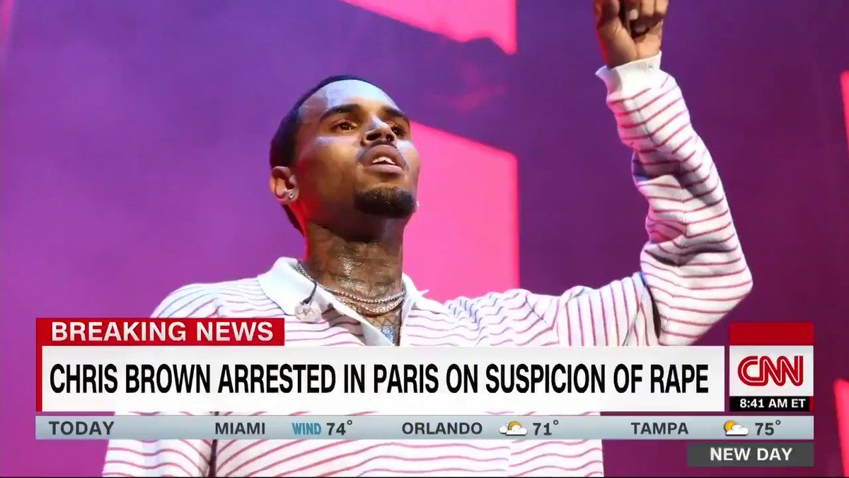 Singer Chris Brown has been arrested in Paris, accused of aggravated rape and drug violations, a French judicial source told CNN https://cnn.it/2Dqoaie