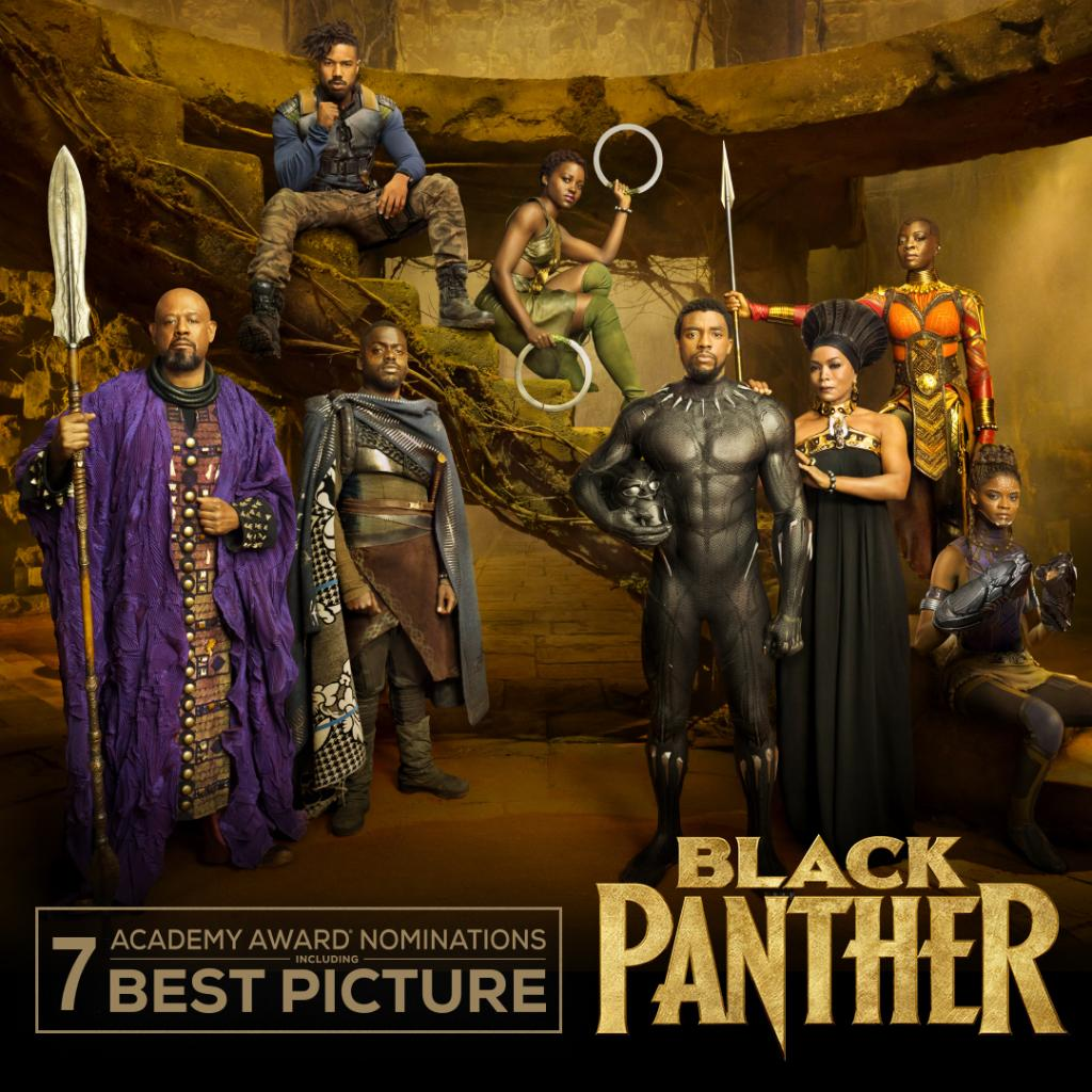 Congratulations to Marvel Studios' #BlackPanther on its seven Academy Awards nominations, including Best Picture! #OscarNoms
