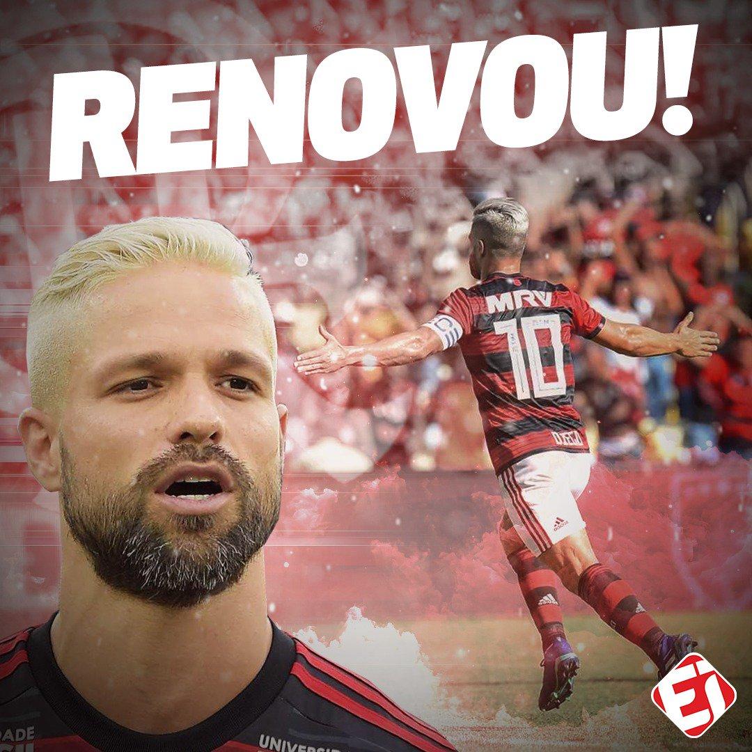 ELE FICA! @ribasdiego10 renovou o contrato com o @Flamengo. O que achou da decisão, torcedor?