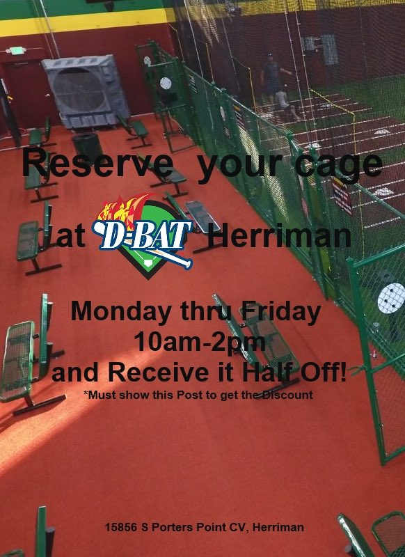 D Bat Herriman On Twitter Want Half Off A Cage Al Show This Flyer Monday Thru Friday 10am 2pm And Get Your Price