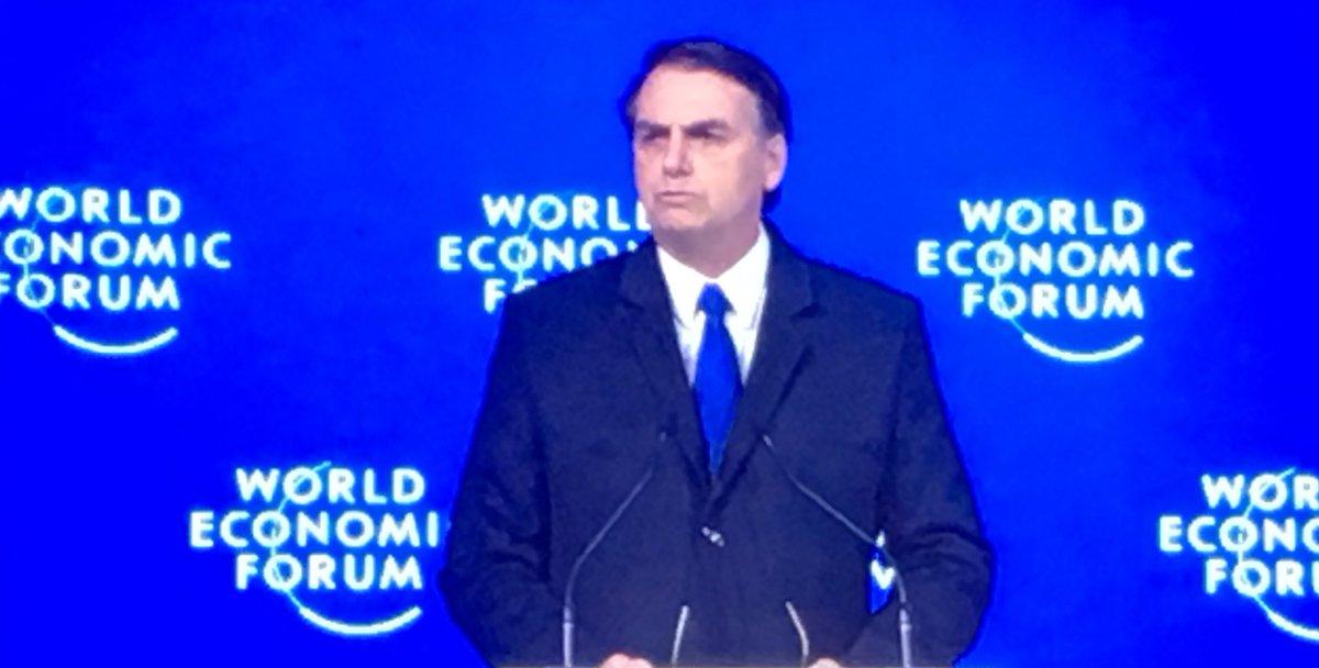 Der #Trump Südamerikas? Auftritt #Bolsonaro 🇧🇷 . #wef #davos
